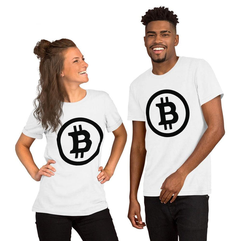 Black and White Bitcoin T-Shirt