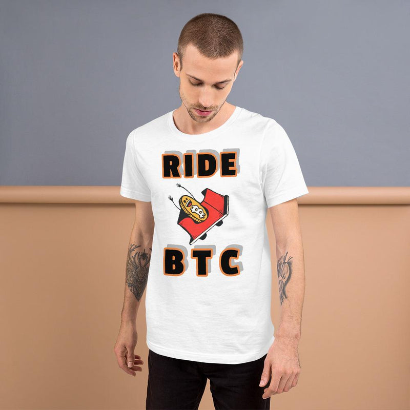Ride BTC bitcoin T Shirt - Crypto Cove
