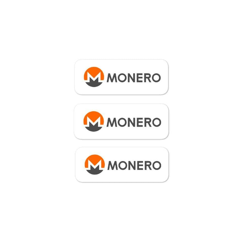 Monero 3 Pack Crypto Stickers - Crypto Cove