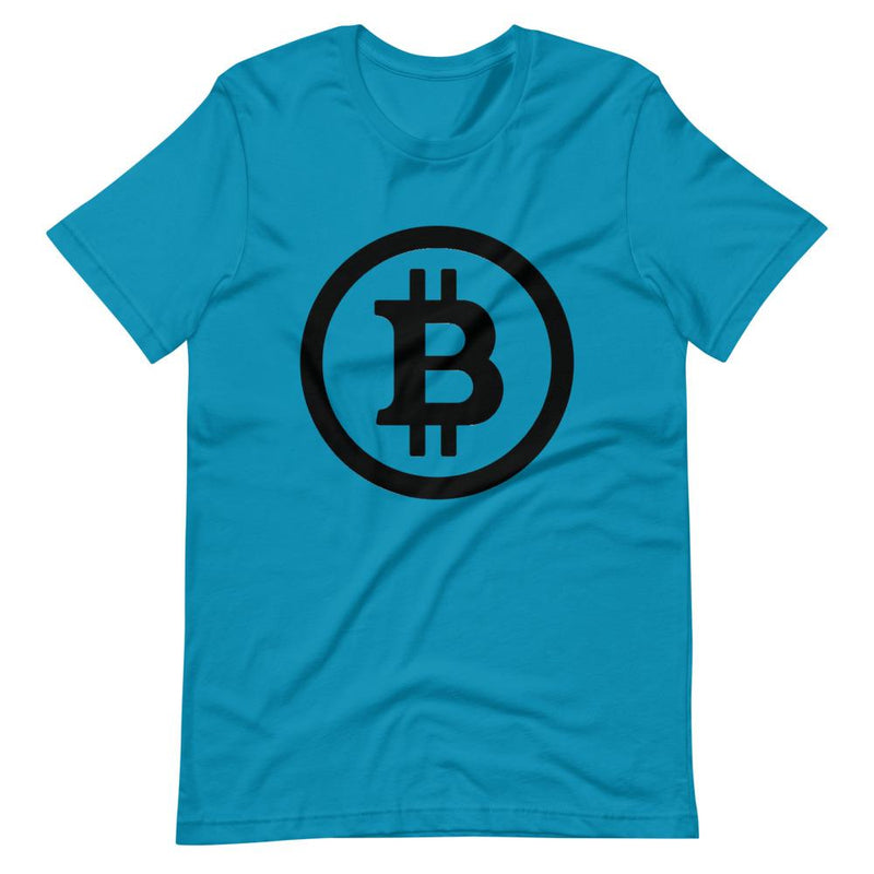Black and White Bitcoin T-Shirt - Crypto Cove