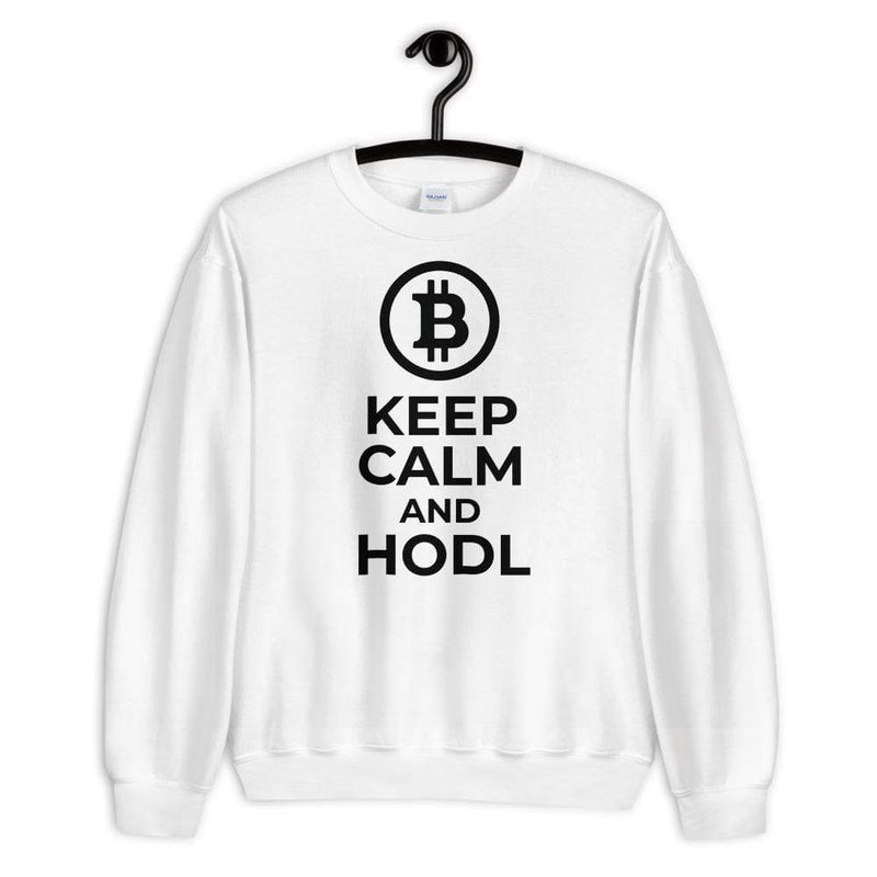 Keep Calm and HODL Bitcoin Sweatshirt