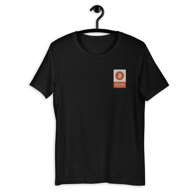 Bitcoin Accepted Here embroidered T-Shirt - Crypto Cove