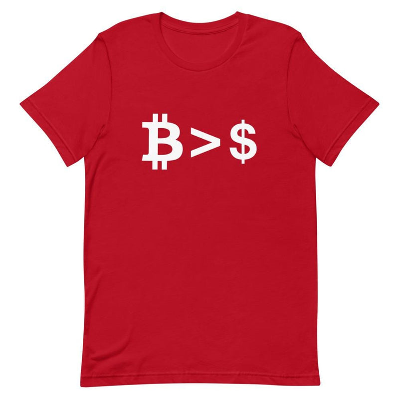 Bitcoin better than USD T-Shirt - Crypto Cove