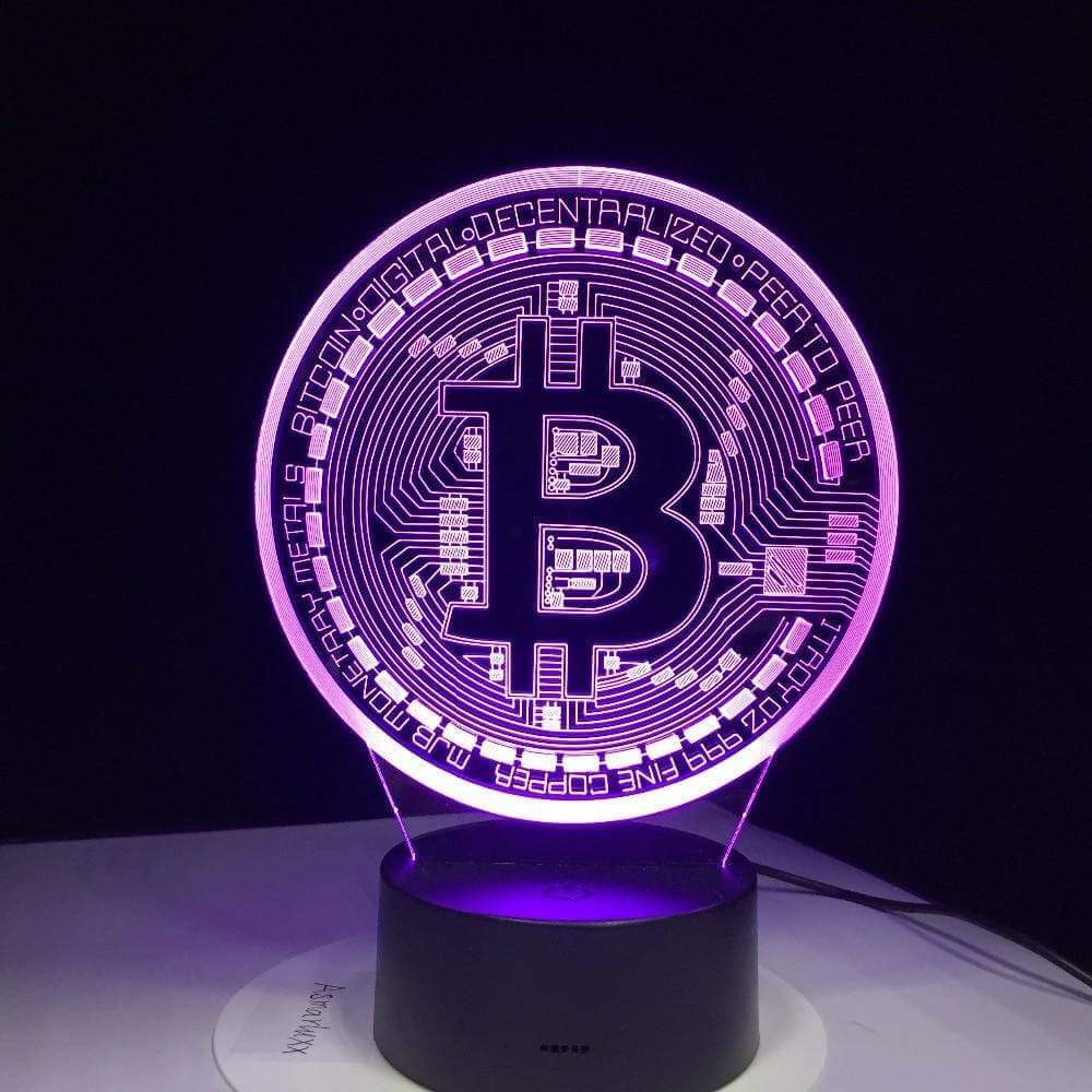 3D led bitcoin lamp. 7 different color modes. -