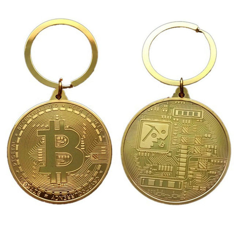 Retro Bitcoin Key Chain Merchandise - Crypto Cove