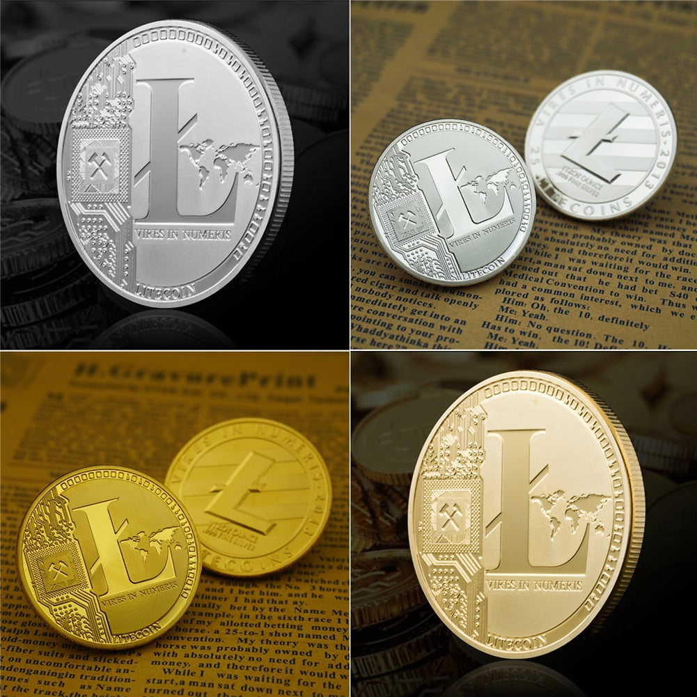 Gold & Silver Plated Litecoin Coin