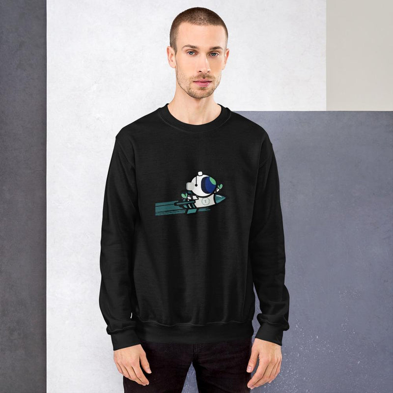 Ramp DeFi Rocket Man Unisex Sweatshirt