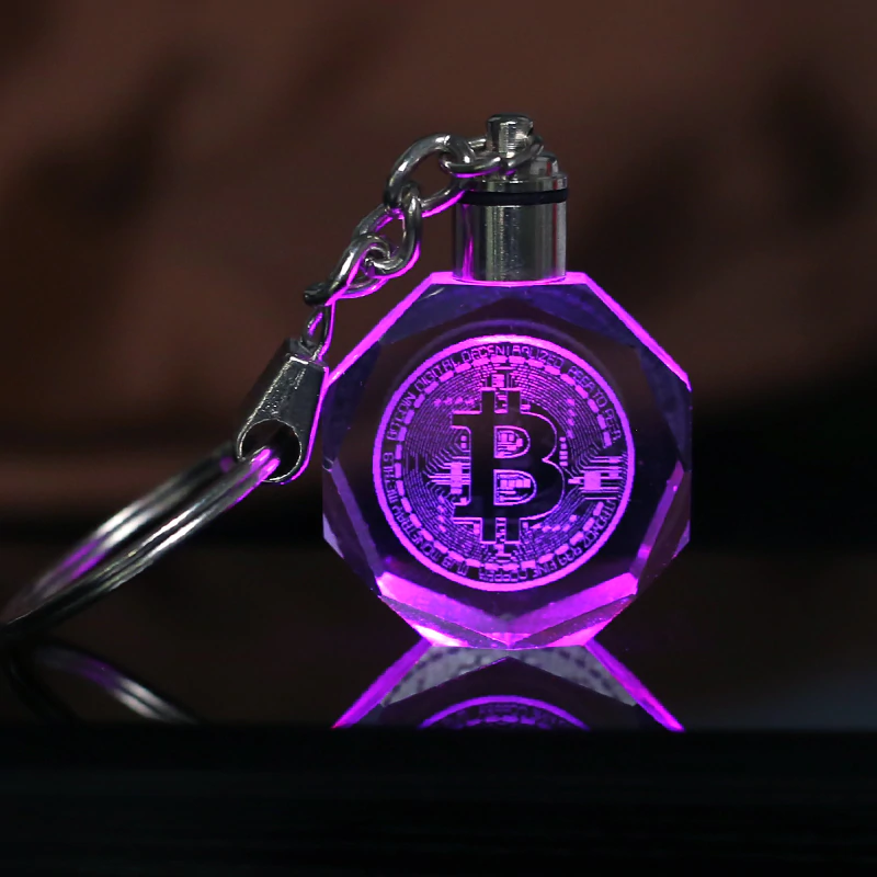 Bitcoin LED Color Changing Keychain