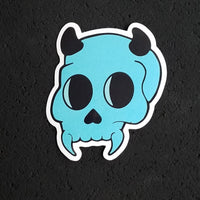 Lil' Blue Devil Skull Sticker