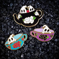 Spook-tacular Tea Party Enamel Pin Set