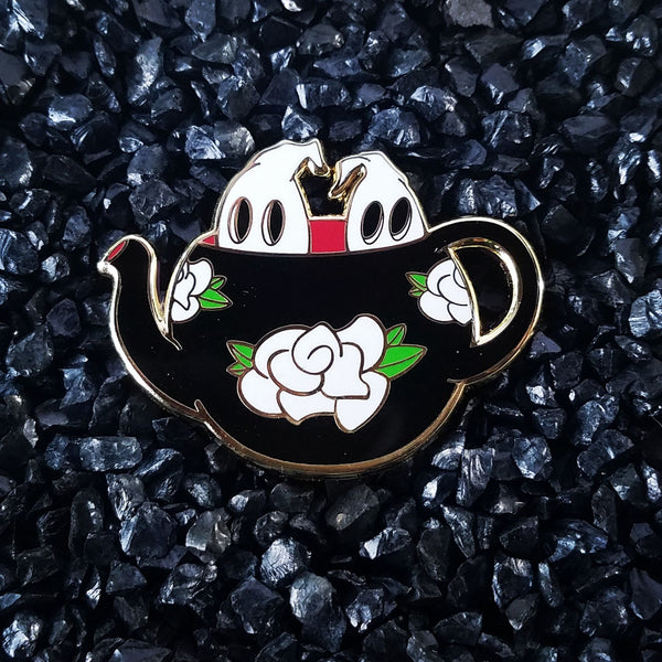 Boo-tea-ful Tea pot Hard Enamel Pin