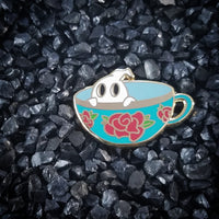 Ghos-tea-ly Tea Cup Hard Enamel Pin