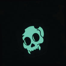 Load image into Gallery viewer, Glowing Devil Skull in Jar Enamel Pin - Gold