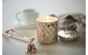 Rose Gold Diamond Candle - Love