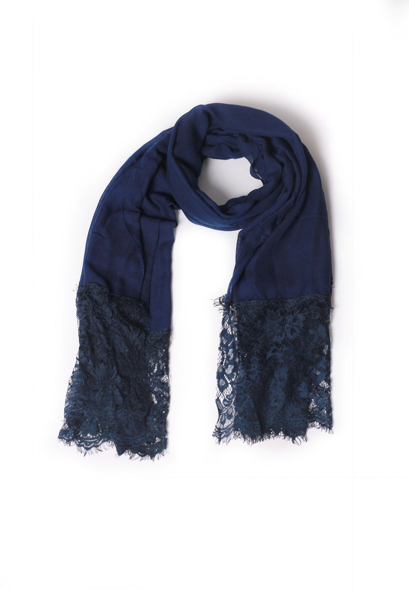 Basic Navy Blue Scarf