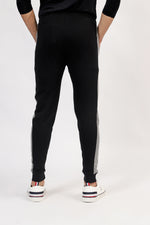 Black Trouser With Grey Stripe
