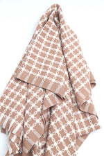 Patterned Brown Shawl