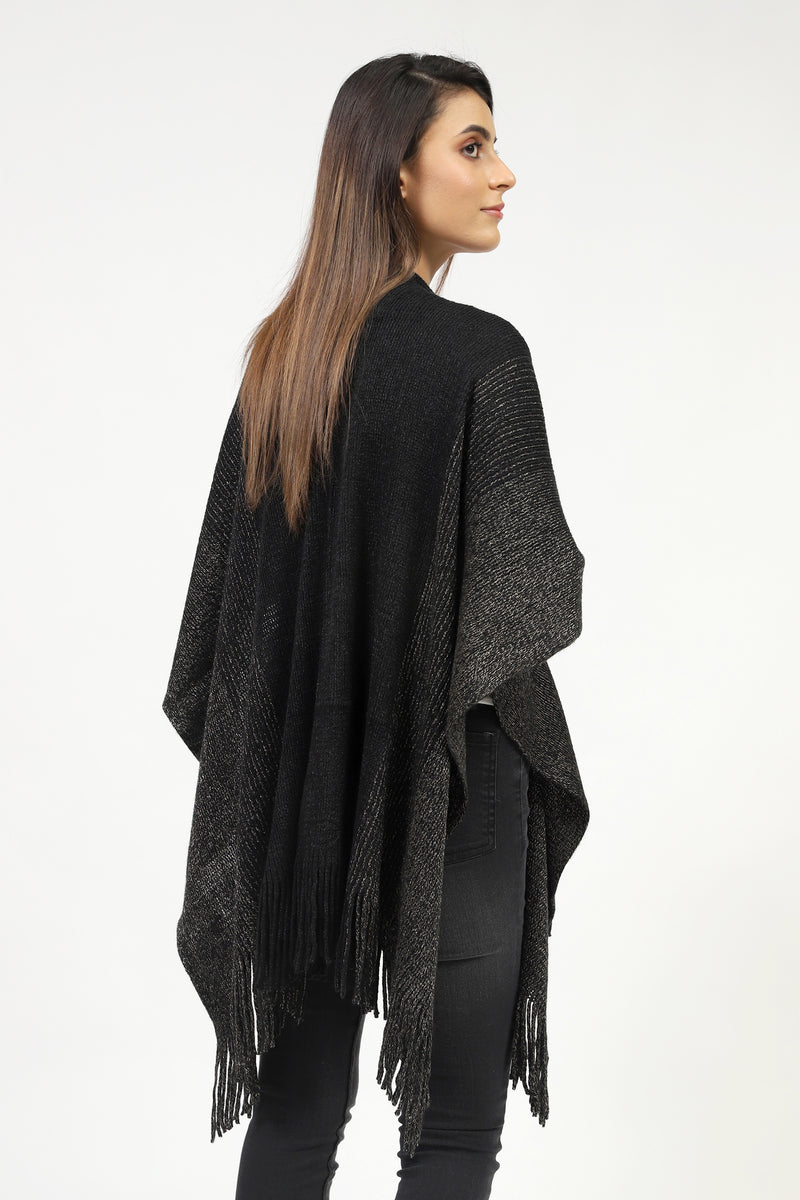 Long Shawl With Shiny Texture