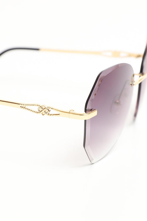 Gold Frame Purple Glasses