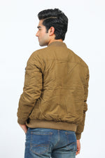 Khaki Jacket with Zipper Pockets