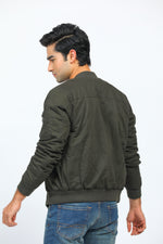 Olive Jacket with Zipper Pockets