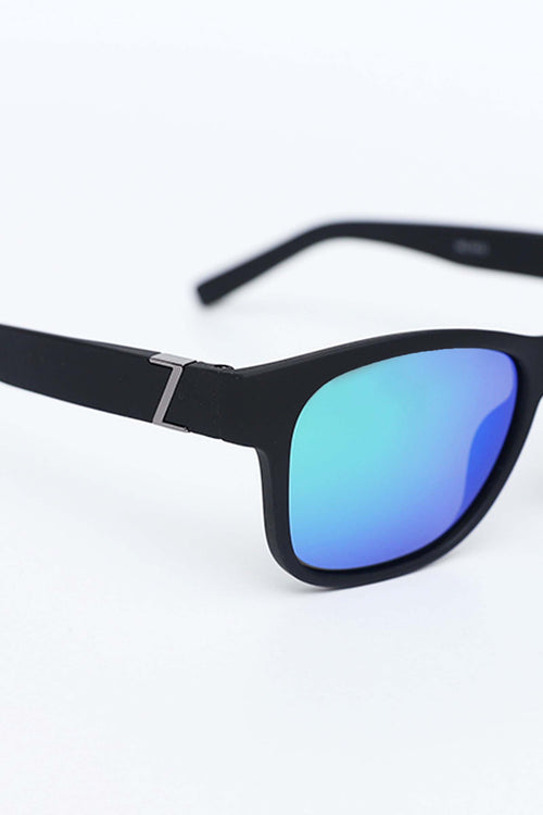 Blue Shaded Wide Legged Sunglasses