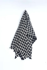 Patterned Black Shawl