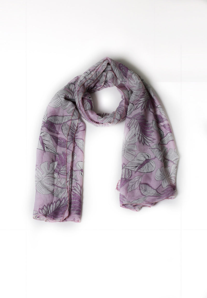 Light Purple Printed Scarf