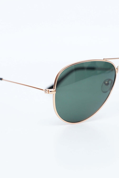 Green Lens With Golden Frame Aviators
