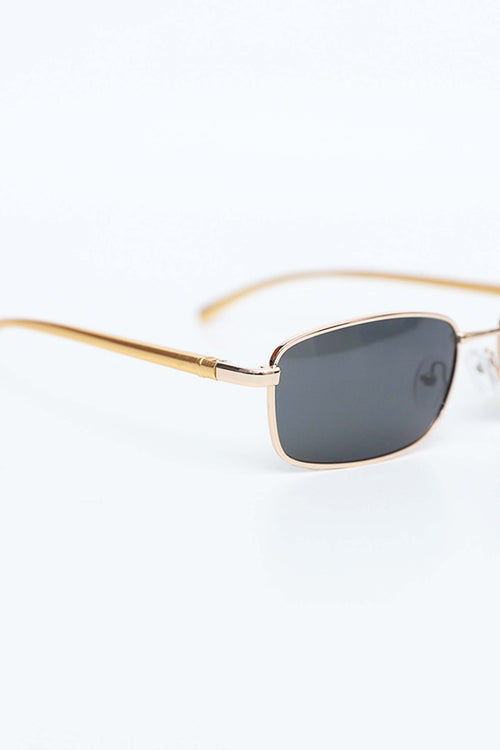 Square Sunglasses With Golden Frame