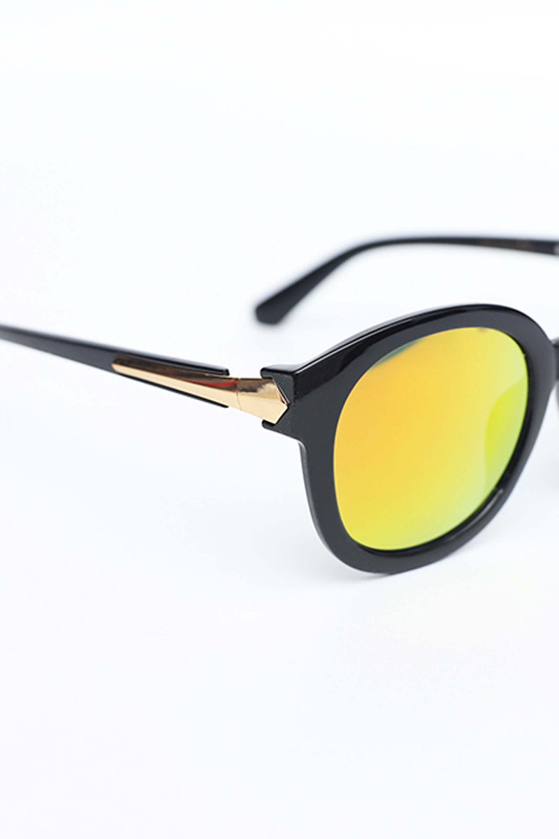 Yellow Lens With Round Frame Sunglasses