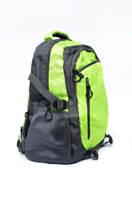 Parrot Green Backpack With Front Zip