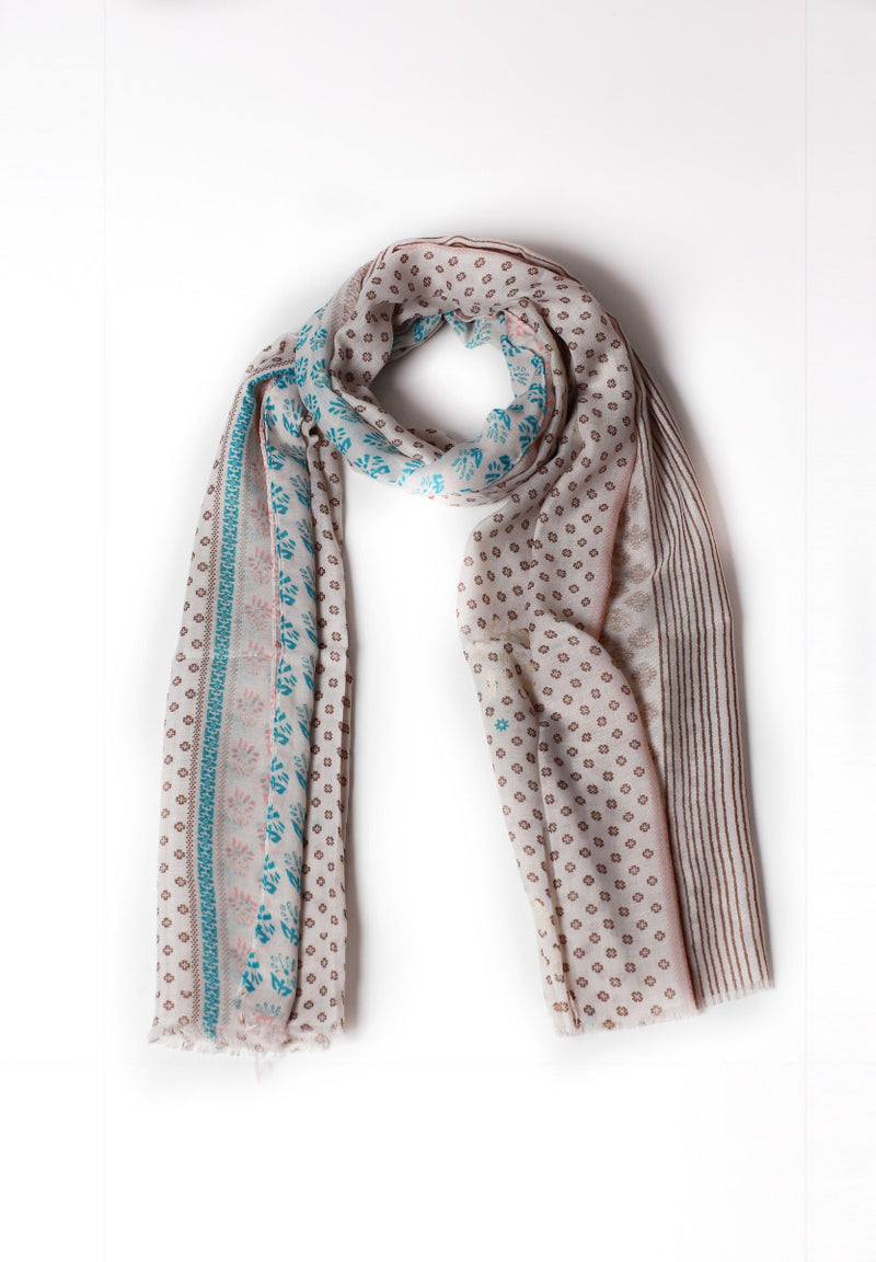 Skin Brown patterned Scarf