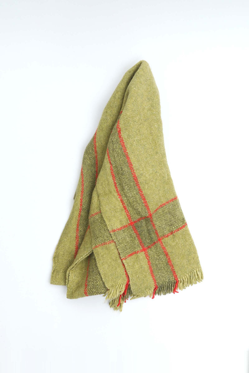 Red Patterned Green Scarf