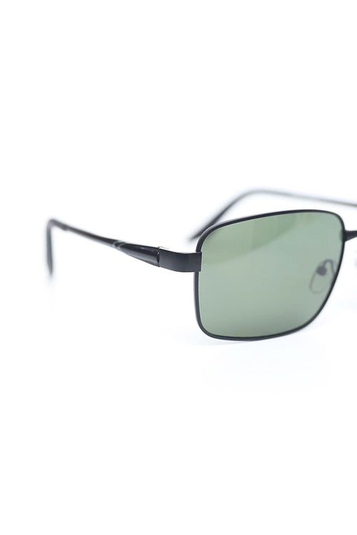 Square Green Lens Sunglasses