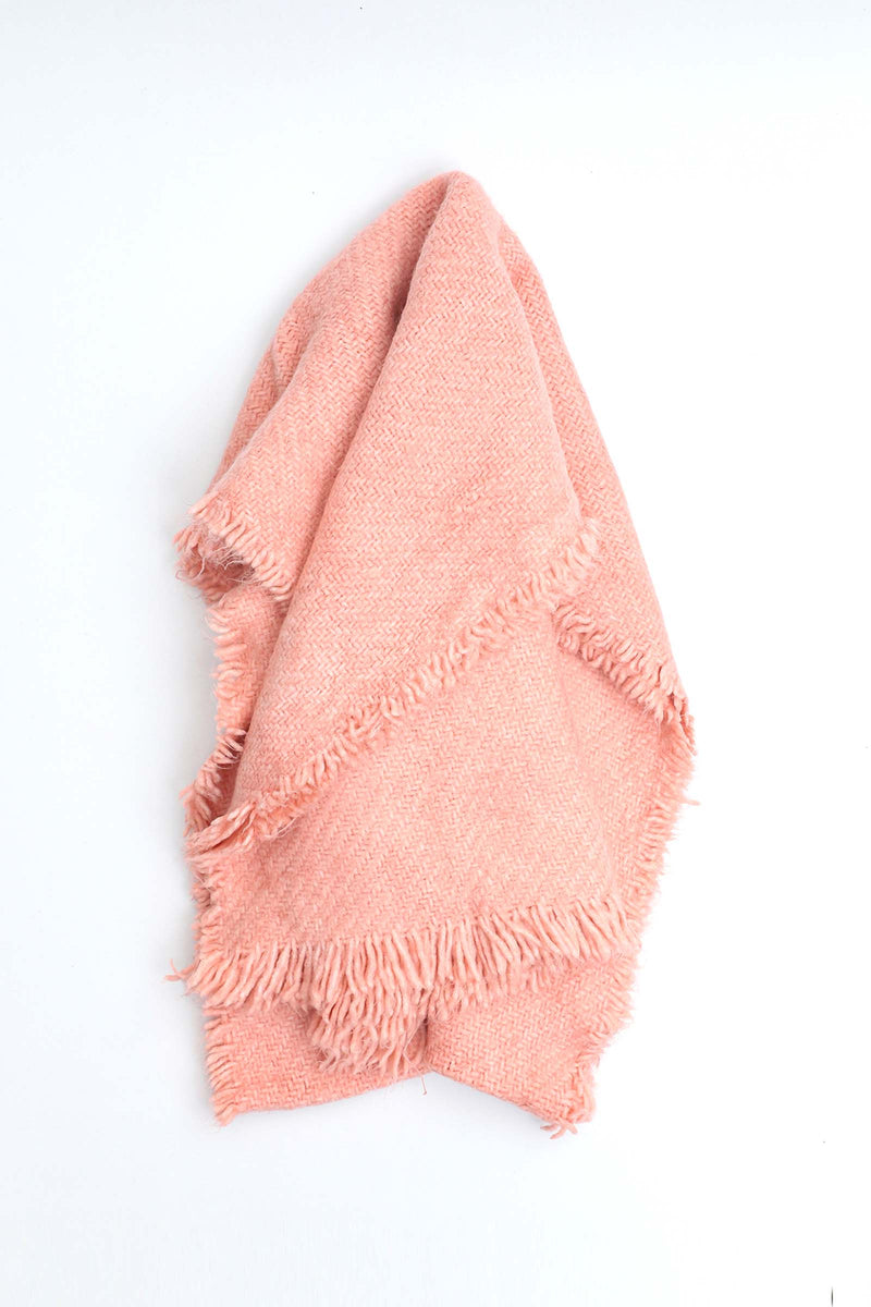 Solid Pink Shawl