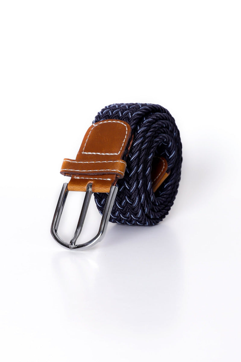 Blue Zig Zag Canvas Belt