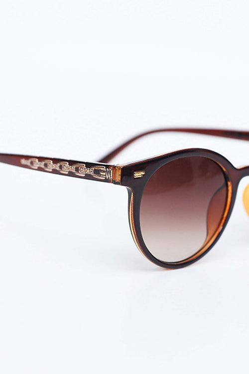 Brown Clubmaster Sunglasses