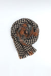 Rustic Brown Checkered Shawl