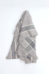 Grey Striped Shawl