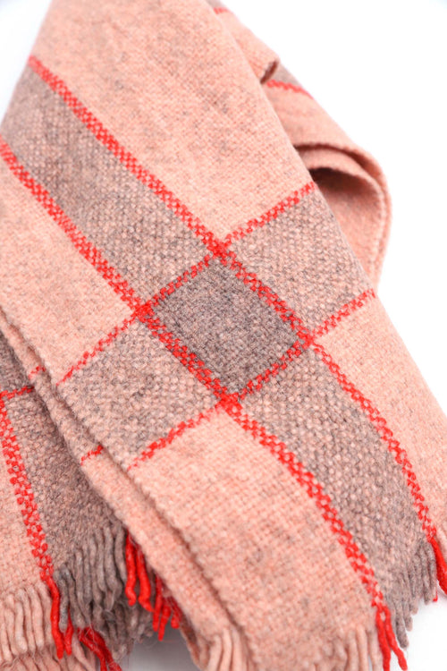 Stripe Bordered Baby Pink Scarf