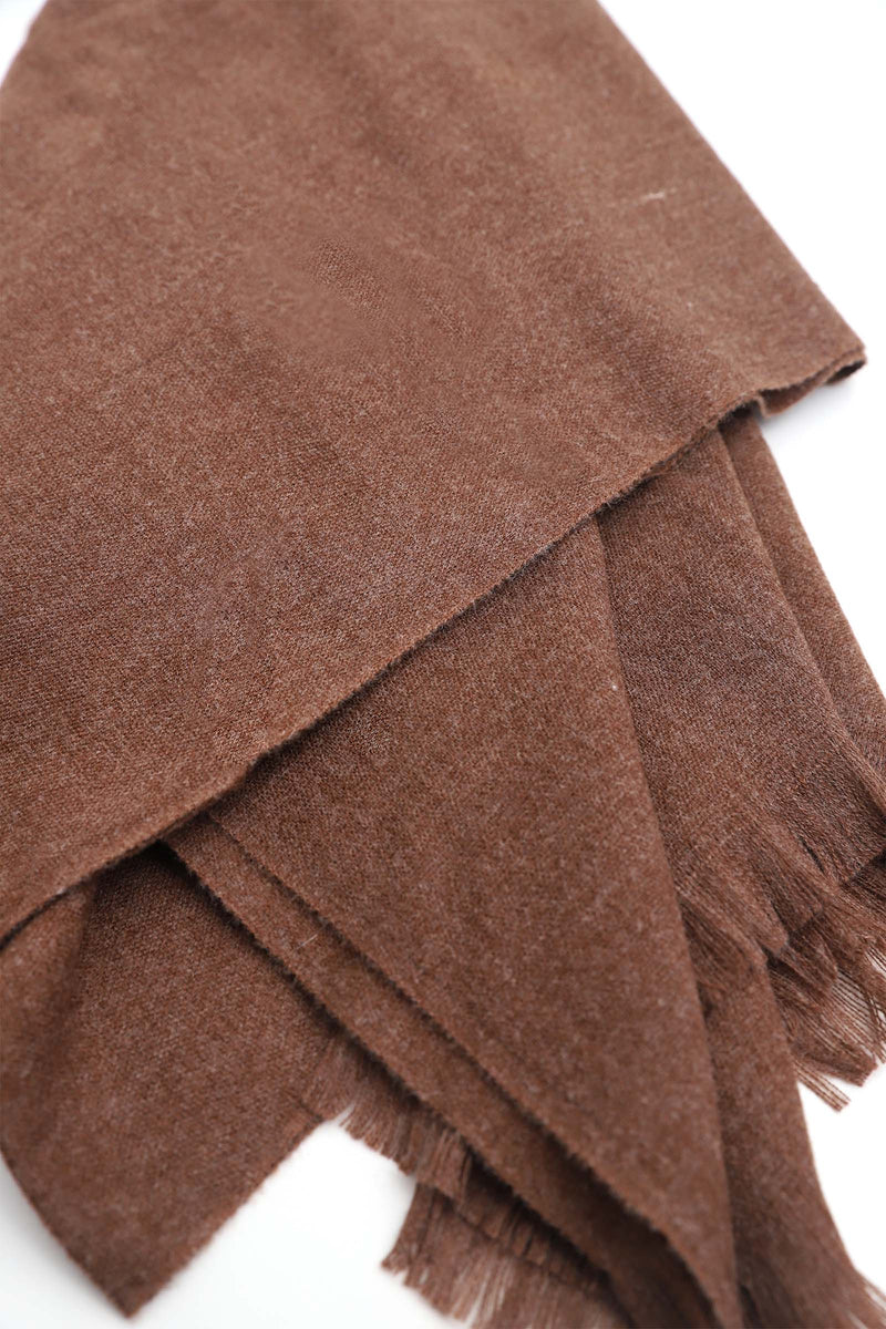 Solid Chocolate Scarf