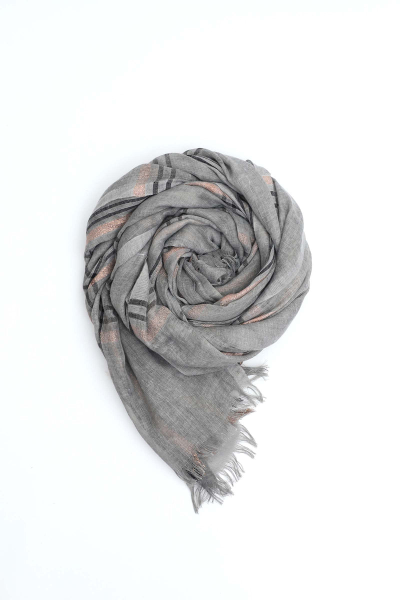 Patterned Grey Scarf