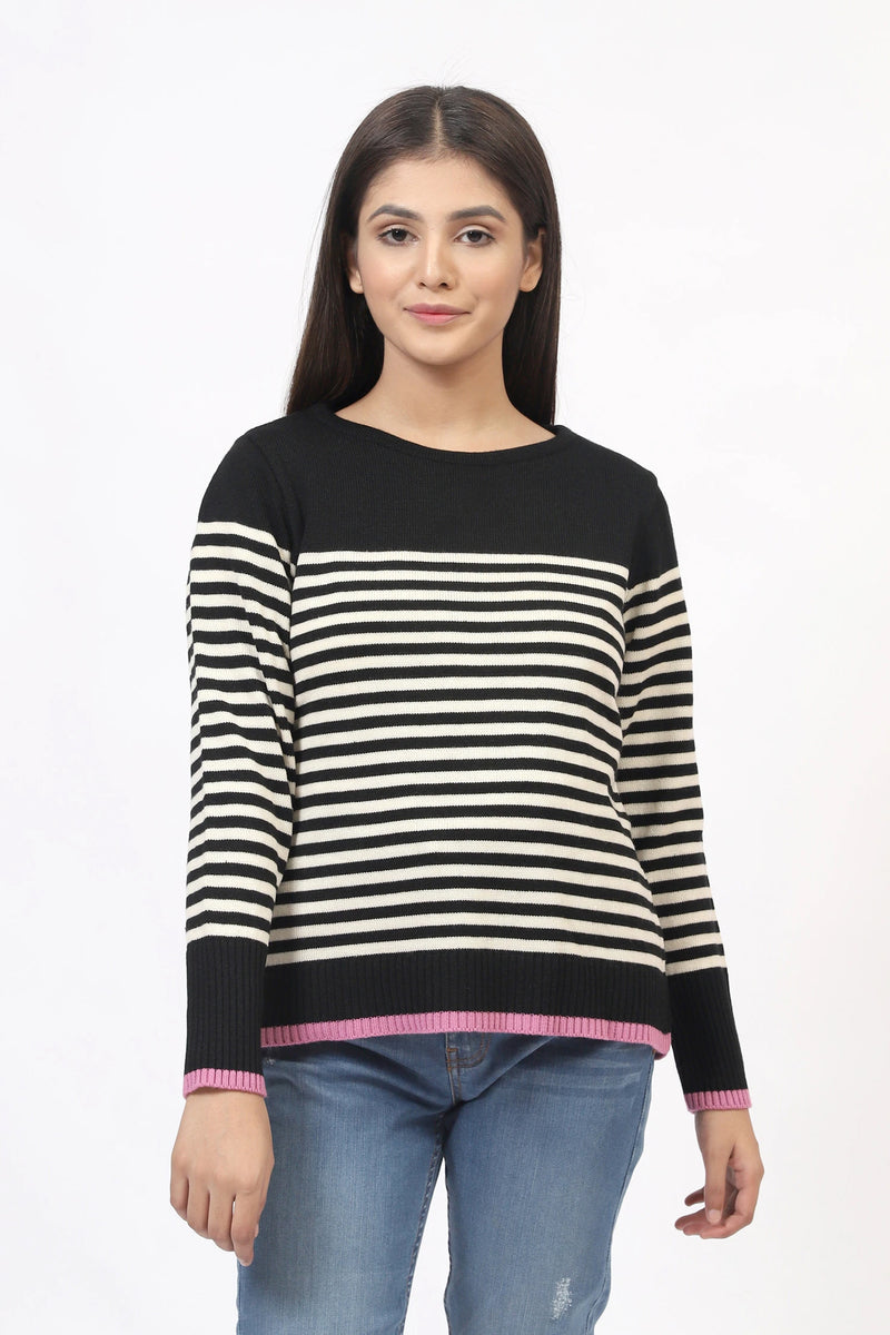 Black & White Striped Pullover