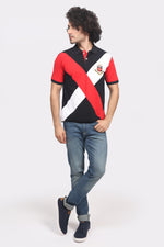 Red & Black Cross Polo