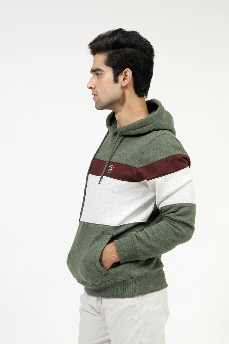 Color Block Hoodie With Logo