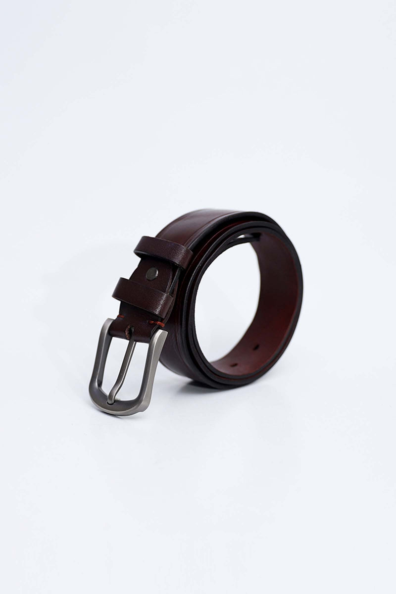 Dark Chocolate Leather Belt