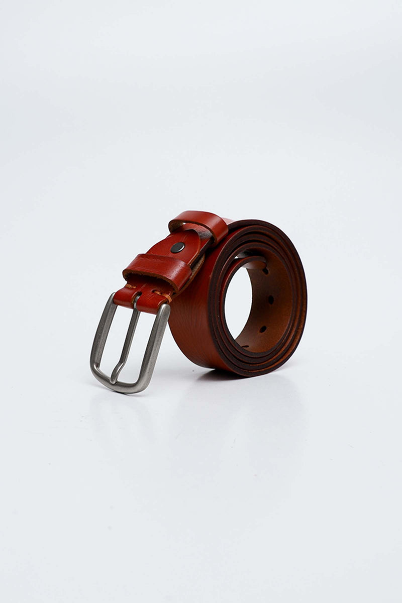 Rust Color Leather Belt