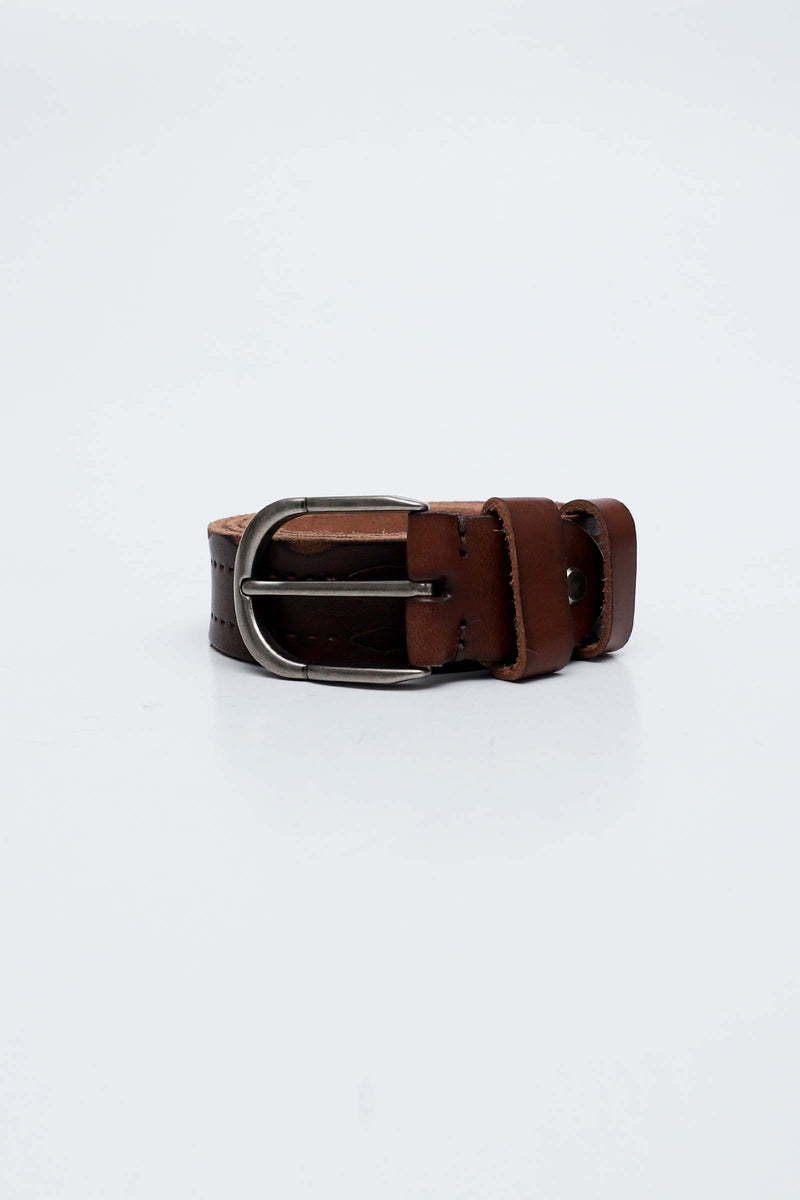 Coffee Color Leather Belt