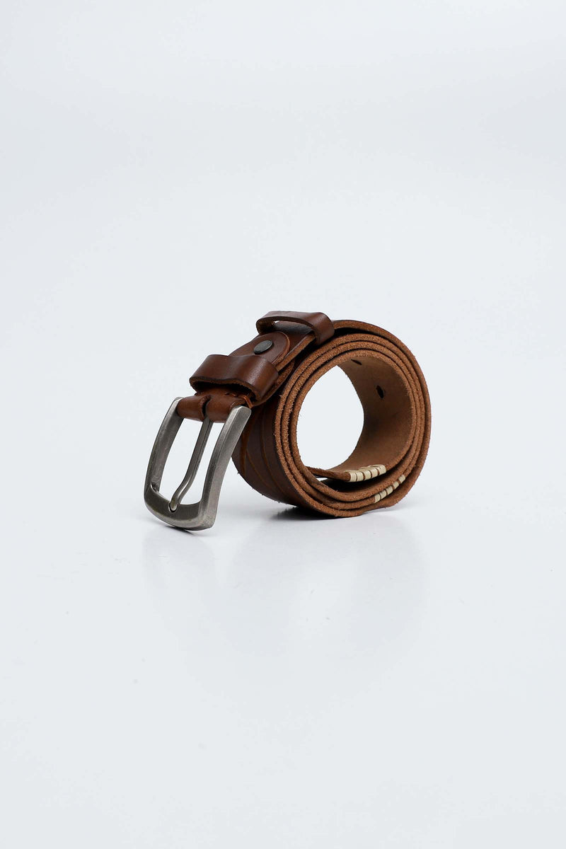 Pure Brown Leather Belt